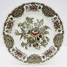 Vintage Ridgway Windsor Dinner Plate Asiatic Floral Birds