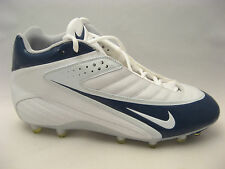 Nike Mens Speed TD 3/4 Football Cleats 15 White Navy Blue 308382-113 $95 NEW