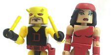 "Minimates 2003 Marvel Lot 2 Yellow Daredevil Elektra 2.25"" Miniature Figure EUC"