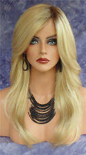 Hot Fashion Synthetic Curly Wig Glueless Long Hair Blonde Wavy Wigs For Women