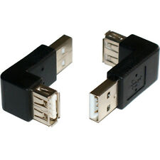USB A RIGHT ANGLE ADAPTER 90 DEGREE - MALE TO FEMALE - 2.0 CONNECTOR CONVERTER