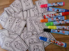 30 PAW PATROL color your own STICKERS, birthday party favors Nick Jr. Disney