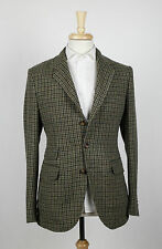 NWT. CARLOS CASTILLO MAN 1924 Hondstooth Wool 3/2 Button Sport Coat 48/38 R $850