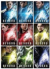 2016 STAR TREK BEYOND 9 Card PROMO Set - Kirk Spock MCoy Scotty Uhura Sulu