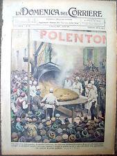 228) 1937 POLENTA A MONASTERO BORMIDA ASTIGIANO DOMENICA DEL CORRIERE