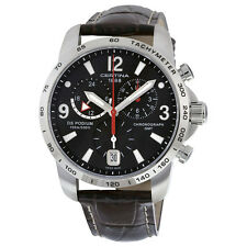Certina DS Podium GMT Black Dial Brown Leather Mens Quartz Watch C0016391605700