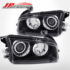 BLACK CRYSTAL STYLE FACTORY HID PROJECTOR HEADLIGHTS - DODGE CHARGER 06-10