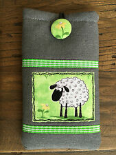 NEW - Handmade fabric phone iphone 4 4s 5 case cover Sheep Farm Animal Flower