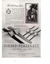 Girard-Perregaux Fine watches Since 1791 Vintage Print Ad 1946 Original