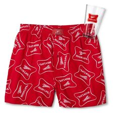 New! Men's Miller High Life Boxer Sleep Short in Pint Glass Size Small