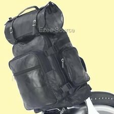 HARLEY MOTORCYCLE SISSY T BAR LEATHER LUGGAGE BAGS 3PC