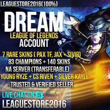 League of Legends Account NA EUW EUNE | PAX TWISTED FATE | PAX TF | YOUNG RYZE