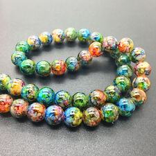 New 10mm 20Pcs Double Colors Glass Round Pearl Loose Beads Jewelry Making #10m63