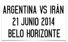 2014 World Cup Match Details,  Argentina VS Iran Official Size