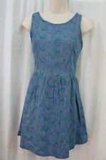 Teen Vogue by MStyleLab Juniors Dress Sz L Denim Jade Casual Summer Dress