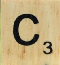 INDIVIDUAL WOOD SCRABBLE TILES! 8 FOR $2, OR 25 CENTS PER TILE. LETTER C