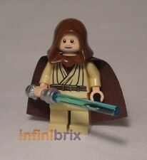 Lego Obi-Wan Kenobi (Old) from Set 7965 Millennium Falcon Hood + Hair NEW sw336