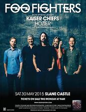 FOO FIGHTERS 2015 TOUR PROMO POSTER SLANE CASTLE IRELAND KAISER CHIEFS HOZIER