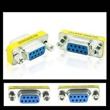 DB9 VGA 9 pin Female to female Mini Gender Changer convertor adapter connector