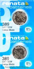 2 pc 389 Renata Watch Batteries SR1130W  FREE SHIP 0% MERCURY
