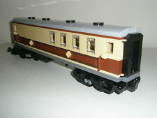 Lego Train - Custom Dining Coach - Tan+Brown -New- steam Emerald 10194 10219