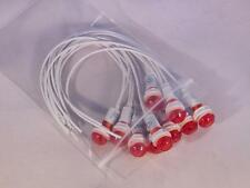 Qty 10 New Red Indicator Lamp 220V 9MM PILOT LIGHT 220VAC WIRE-BASE Ring & Nut