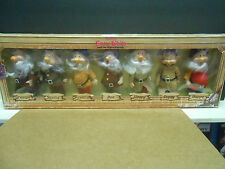 "Vintage Seven Dwarfs Dolls Bikin Express NIP Disney's Snow White 6.5"" Jointed"
