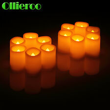 Ollieroo 12Pcs Flameless LED Votive Christmas Candles with Remote Ivory Hot!