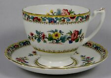 COALPORT MING ROSE Footed Style Cup & Saucer Set
