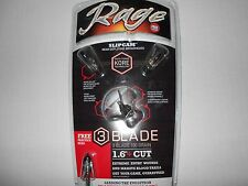 "@NEW@ Rage Kore 3 Blade 100 Grain 1.6"" Cut Expandable Broadheads! #39300"