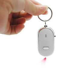 New LED Key Finder Locator Find Lost Keys Chain Keychain Whistle Sound Control