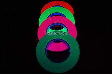 4 Pack Half Inch Blacklight Reactive Fluorescent Gaffer Tape 4 Rolls x 45 Yards