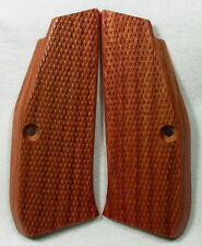 New wood checkered grips For CZ 75 SP-01 Shadow, CZ 75, 85 Full Size