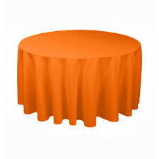 """Tablecloth Polyester Round 120"""" By Broward Linens (Variety of Colors)"""