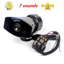 100W 7 Style Sound Car Siren Ambulance Warning Alarm Police Loudspeaker With MIC