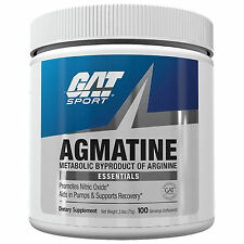 GAT AGMATINE 100 SERVINGS UNFLAVORED NITRIC OXIDE AMPLIFIER FOR BIG MUSCLE PUMPS