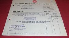 rechnung eisenwerk streuber & lohmann herford sulo   alt antik deko 1939 papier