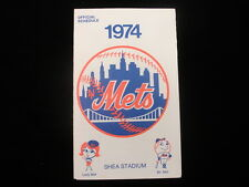1974 New York Mets Baseball Schedule