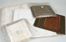 WHITE/BROWN WEDDING ALBUM PAGE MAT FRAMES VARIOUS SIZES, LARGE LOT