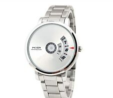 Wilon 938 Watch Mens Silver Analog Stainless Steel Swivel Fashion