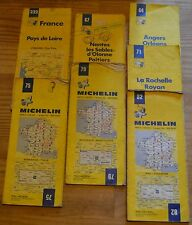 Lot de 7 cartes Michelin 1-200 000e fin 1970- 1980