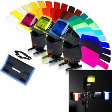 20 x Flash Speedlite Color Gels Filter + Gels-Band For Canon Nikon Godox YONGNUO