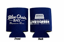 Live on the Green Blue Chair Bay Rum Beer Can Koozie Kenny Chesney Lightning 100