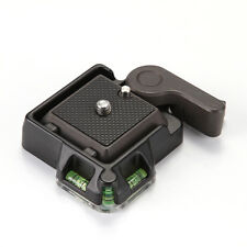 Tripod Ballhead QR BasePlate+Clamp w/ Bubble Level Arca-swiss Benro Compatible