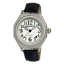 Breed Arthur 1201 Men's Classic 20-Jewel Automatic Watch Leather Strap $450 NEW