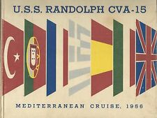 ☆ USS RANDOLPH CVA-15 MED DEPLOYMENT CRUISE BOOK YEAR LOG 1956-57 - NAVY ☆