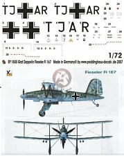 Peddinghaus 1/72 Fieseler Fi 167 A-0 Markings Erpr.Gr.167 for Graf Zeppelin 1505