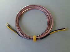 """ANALYSIS PLUS """"OVAL 12"""" SINGLE 7' FOOT SPEAKER CABLE SPADE TO BANANA EXCELLENT"""