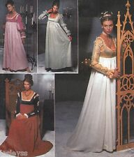 Misses 2pc Gowns with Gauntlets Renaissance Medieval 14-20 UNCUT Sewing Pattern