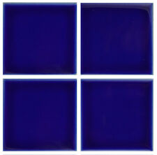 1 SAMPLE 3x3 Gloss Cobalt Blue Tile for Countertop Backsplash Pool Sink Bathroom